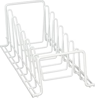 Organize It All 1902W Lid Plate Rack, White