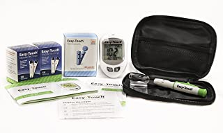 EasyTouch Diabetes Testing Kit, EasyTouch Blood Glucose Meter, 100 EasyTouch Blood Glucose Test Strips, 100 EasyTouch Lancets, EasyTouch Lancing Device, Owner's Manual, Logbook, and Carrying Case