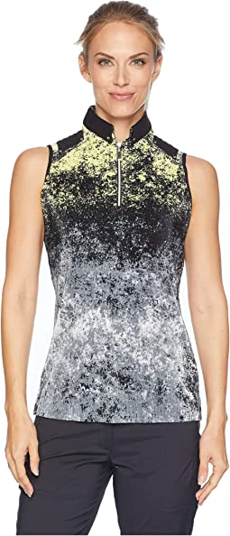 Blizzard Print Crunchy Sleeveless Top