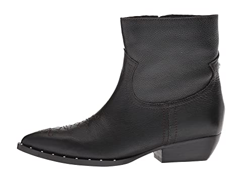 a2860293335 Women'S Ava Leather Western Booties in Black Tumbled Granada Leather