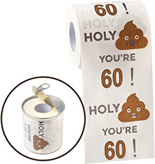 Happy 60th Birthday Gifts for Women and Men - 3-Ply Funny Toilet Paper Roll, 60th Birthday Decorations for Him, Her , 60th...