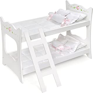 Badger Basket White Rose Doll Bunk Bed (fits American Girl Dolls)