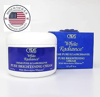 Caris White Radiance AHA Pure Brightening   Bleaching   Whitening   Skin Lightening Cream 227g - By SONIK PERFORMANCE - with micro active whitener - without hydroquinone - ANTI BLEMISHES - ANTI DARK SPOTS