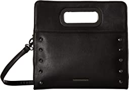 Clutch with Metal Handles and Crossbody Strap