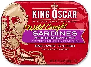 King Oscar Sardines in Extra Virgin Olive Oil Mediterranean Sardines, 3.75 Ounce (Pack of 12)