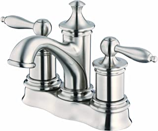 Danze D301010BN Prince Two Handle Centerset Lavatory Faucet, Brushed Nickel
