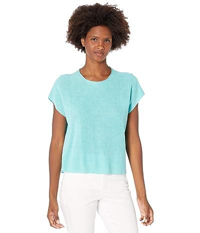 Eileen Fisher Organic Linen Cotton Crew Neck Top