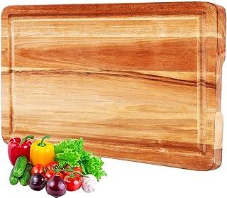 InnoStrive Cutting Board 100% Environmental Friendly Acacia Wood Cutting Board For Kitchen Organic Wooden Chopping Board W...