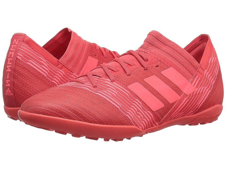 adidas Kids Nemeziz Tango 17.3 TF J Soccer (Little Kid/Big Kid) (Real Coral/Red Zest/Black) Kids Shoes