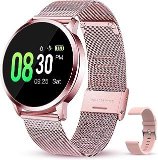 GOKOO Smartwatch Mujer Reloj inteligente Pulsómetros IP67 Impermeable Monitor de Sueño Podómetro Reloj Fotografía Remota C...