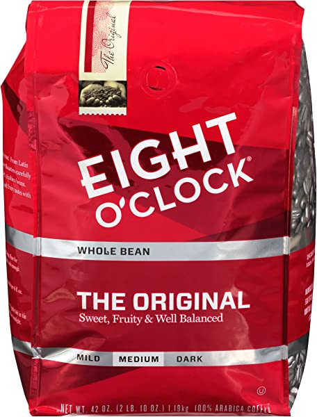 Eight O Clock Whole Bean Coffee The Original 42 Ounce Packaging May Vary