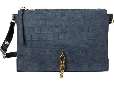 AllSaints Sheringham Shoulder Bag (Petrol Blue) Shoulder Handbags