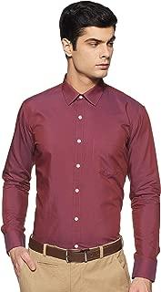 Amazon Brand - Symbol Men's Slim Fit Full Sleeve Fil A Fil Formal Shirt