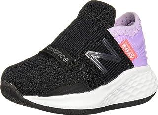 New Balance Kids' Roav V1 Fresh Foam Bungee Running Shoe, Black/Dark Violet GLO, 10 M US Toddler