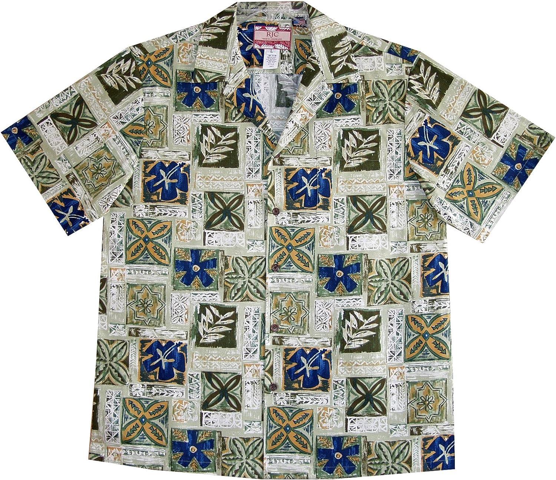 RJC 5X Big Mens Hawaiian Nature Adventure Shirt