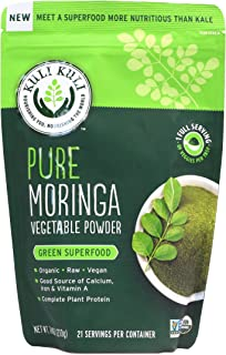 Kuli Kuli, Pure Organic Moringa Vegetable Powder, 7.4 oz. Pouch, Nutritionally Rich Leafy Green Superfood, Great in Smoothies, Complete Plant Protein, Vegan and Raw, Soy and Gluten Free