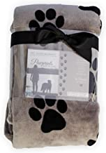 Pawprints Left by You Pet Memorial Blanket with Heartfelt Sentiment - Comforting Pet Loss/Pet Bereavement Gift (Non Person...