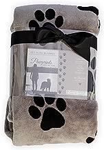 Pawprints Left by You Pet Memorial Blanket with Heartfelt Sentiment - Comforting Pet Loss/Pet Bereavement Gift
