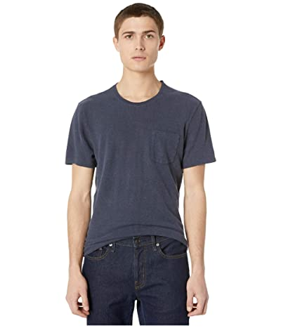 J.Crew Hemp Cotton Twist Jersey Short Sleeve Tee (Royal Indigo) Men