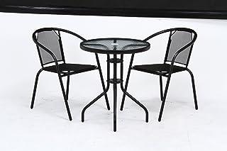 ガーデン テーブル&チェア 2脚の 3点セット 33904-33903x2