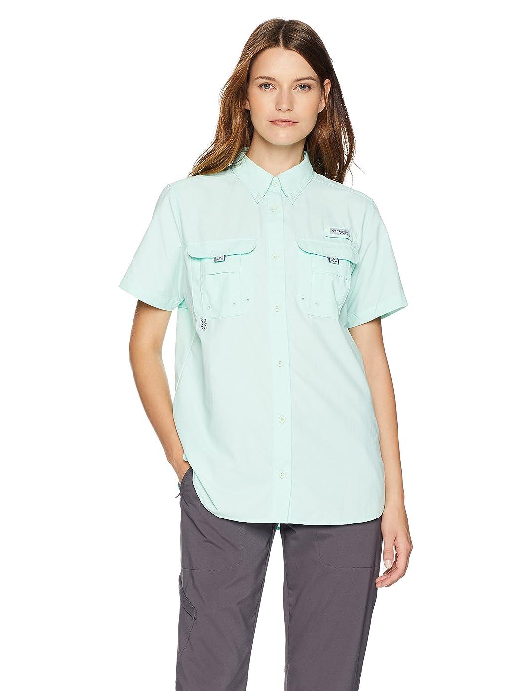 Columbia Standard Womens Bahama Short Sleeve, Sea Ice, Large rjc0016241
