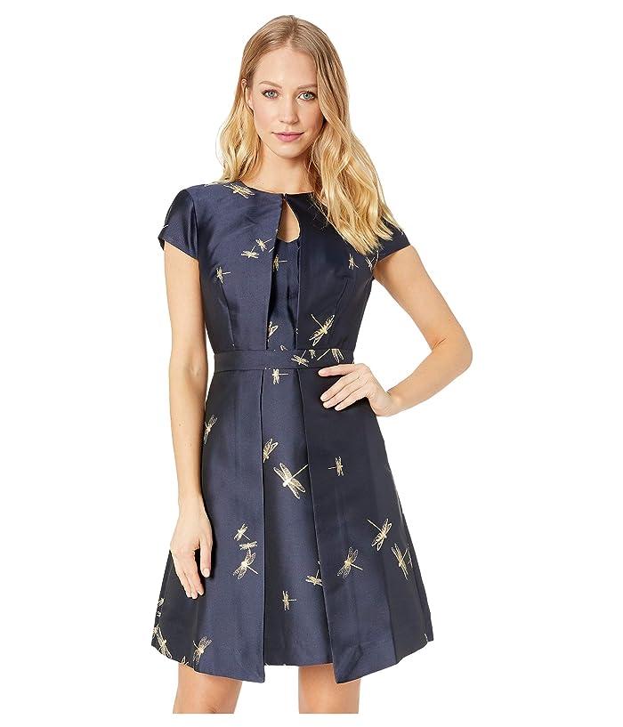 bd2fddb3ad Ted Baker Ardene Double Layered Jacquard Dress (Dark Blue) Women