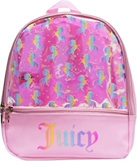 Juicy Couture Mini Backpacks For Girls - Bookbags for Women - Small Backpacks (Pink Unicorns)