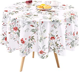 Floral Tablecloth, Wild Flower Table Cloth, Spring Summer Waterproof Wrinkle Free Tablecloth for Outdoor, Picnic, Camping,...