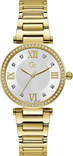 Gc Womens Quartz Watch, Analog Display And Stainless Steel Strap - Y64003L1MF