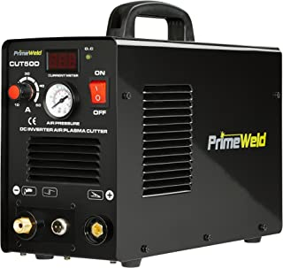 "PRIMEWELD Premium & Rugged 50A Air Inverter Plasma Cutter Automatic Dual Voltage 110/220VAC 1/2"" Clean Cut Portable"