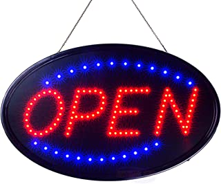 Ultima LED Neon Open Sign for Business: Jumbo Lighted Sign Open with Static and Flashing Modes – Large Indoor Electric Light up Signs for Stores, Bars, Barber Shops (23 x 14 in, Model 3)