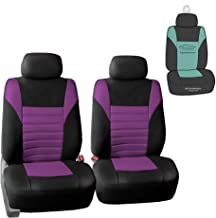 FH Group FB068102 Premium 3D Air Mesh Seat Covers Pair Set (Airbag Compatible) w. Gift, Purple/Black Color- Fit Most Car, Truck, SUV, or Van