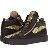 Giuseppe Zanotti - May London Metallic Croc Print Mid Top Sneaker
