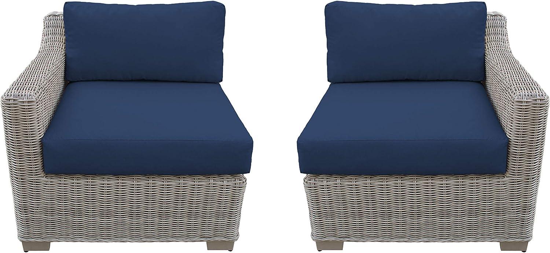 TK Classics TKC038b-LRAS-NAVY Coast safety Nav Patio Seating Furniture Regular dealer