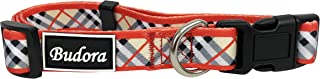 Budora Direct 3 Pattern Multi-Colored Plaid Dog Collar