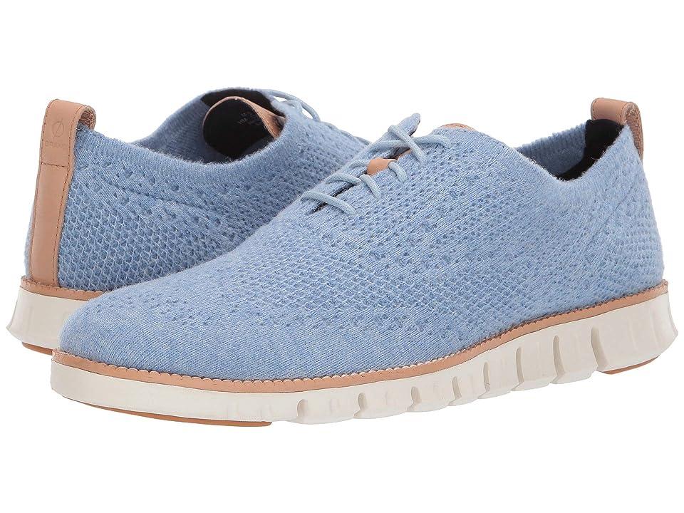 Cole Haan Zerogrand Stitchlite Wool Oxford (Blue Wool Heathered/Ivory) Men