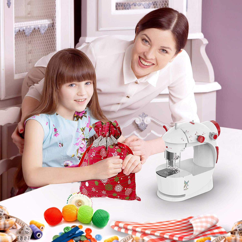 KPCB Sewing Machine with Christmas DIY Materials