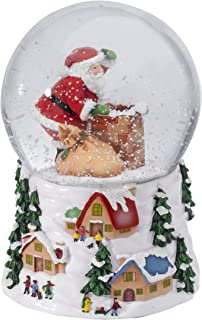 Waterford Holiday Heirlooms Roof Top Santa Snowglobe