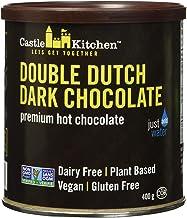 Castle Kitchen Double Dutch Dark Chocolate - Dairy-Free, Vegan Premium Hot Chocolate Mix - Just Add Water - 14 oz