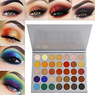 Eyeshadow Makeup Palette, Valuemakers 35 Colors Waterproof & Ultra Pigmented Make-up Eye Shadows - Matte and Shimmer EyeShadow Powder Cosmetic Makeup Set- Vegan and Cruelty Free