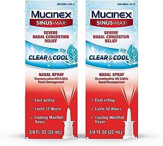 Mucinex Sinus-Max Nasal Spray Clear & Cool, 0.75 oz Packaging May Vary (Pack of 2)