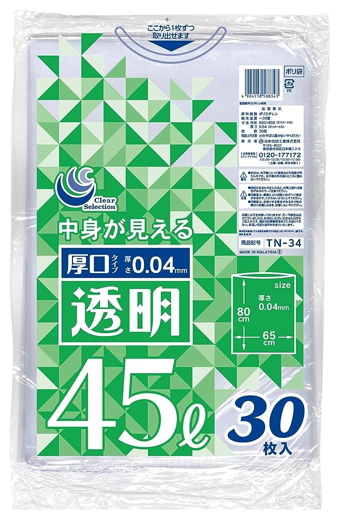 病んでいる致命的なユニークな日本技研工業 ゴミ袋 透明 90L 90cm×100cm 厚み0.05mm 伸びやすく裂けにくい 中身が見える 厚くて丈夫 TN-21 10枚入