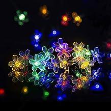 Outdoor Flower Fairy Lights Solar Garden Waterproof Wedding Yard Decor Lights XN