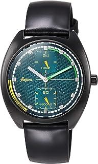 [セイコーウォッチ] 腕時計 アルバ Fusion 90年代 レトロ 未来感カラーテイスト グリーン文字盤 カーブハードレックス 日常生活用強化防水(10気圧) AFSK403 ブラック