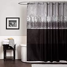 Lush Decor Night Sky Shower Curtain, 180cm By 180cm , Black/grey