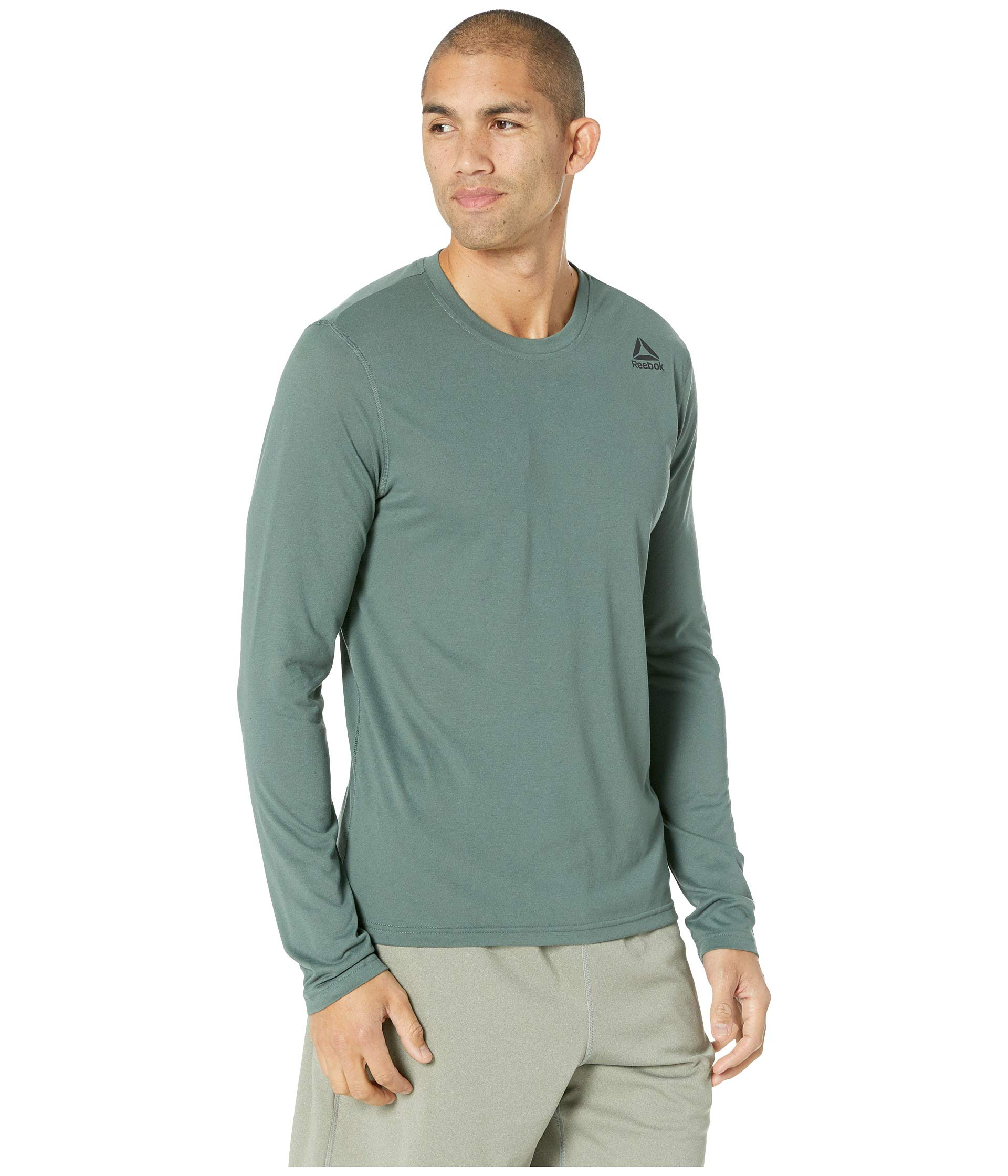 Green Chalk Long Ready Sleeve Workout Reebok Supremium RYSwxpz7q