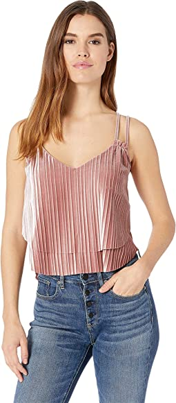 Touch Of Velvet Pleated Double Layer Top