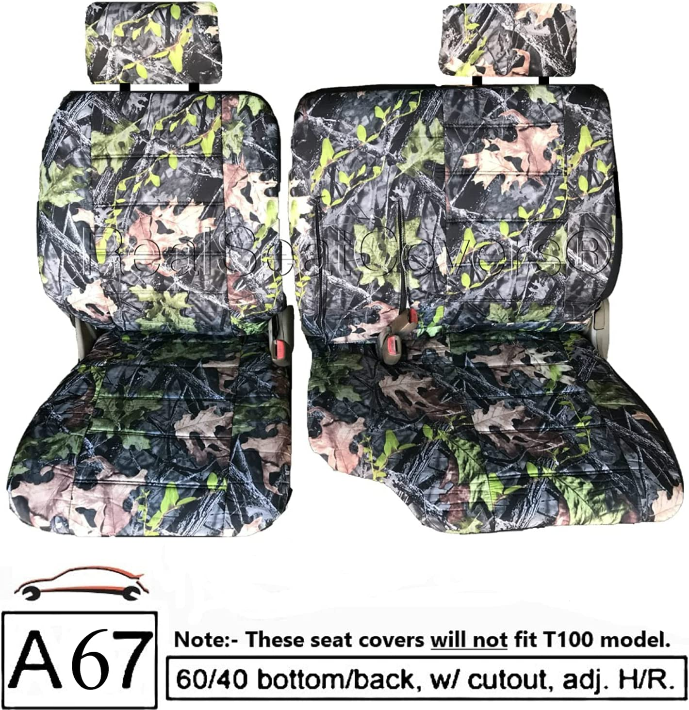 Custom Fit RealSeatCovers for Front 60/40 Split Bench Adjustable ...