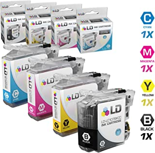 LD Compatible Ink Cartridge Replacements for Brother LC107 & LC105 Super High Yield (Black, Cyan, Magenta, Yellow, 4-Pack)