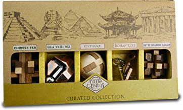 True Genius CURATED Collection - disassembly Puzzle, Brain teasers, Adult Puzzle